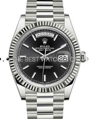 Replica Rolex Day-Date II Automatic Watch 228239-0004 Black Dial 41mm