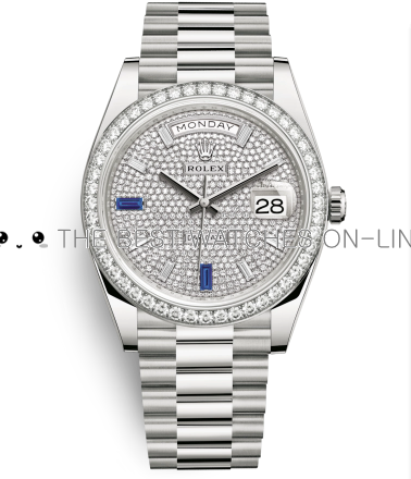 Rolex Day-Date II Swiss Replica Watch 228349RBR-0036 Full Diamonds Dial 40mm (High End)