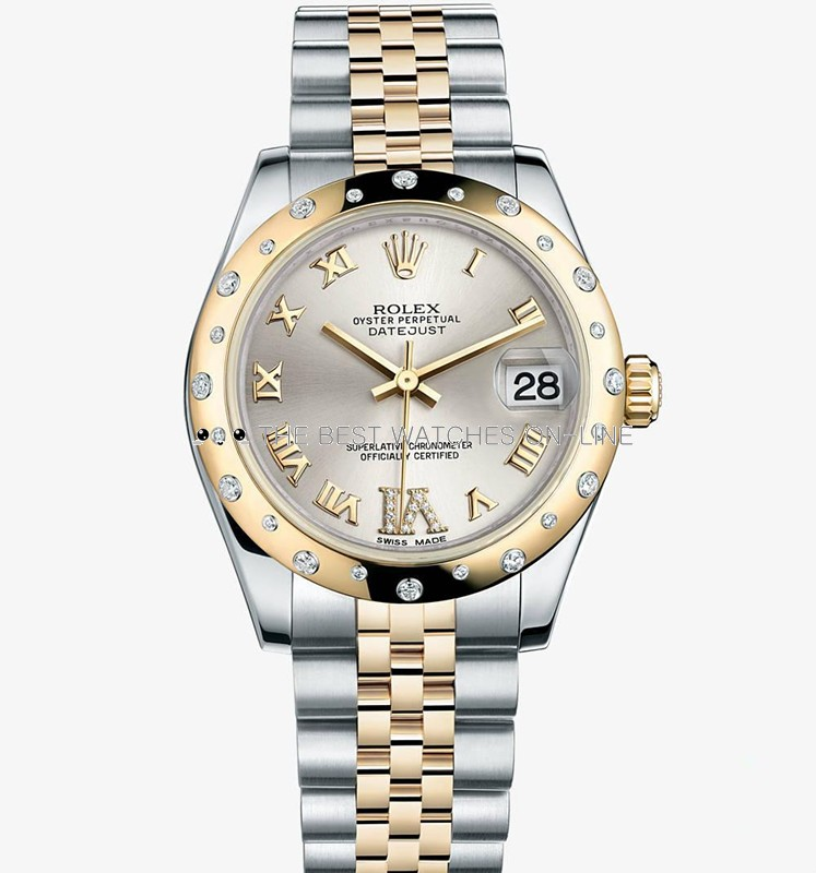 Swiss Rolex Datejust Ladies 178343 Silver dial Roman numerals Automatic Replica Watch
