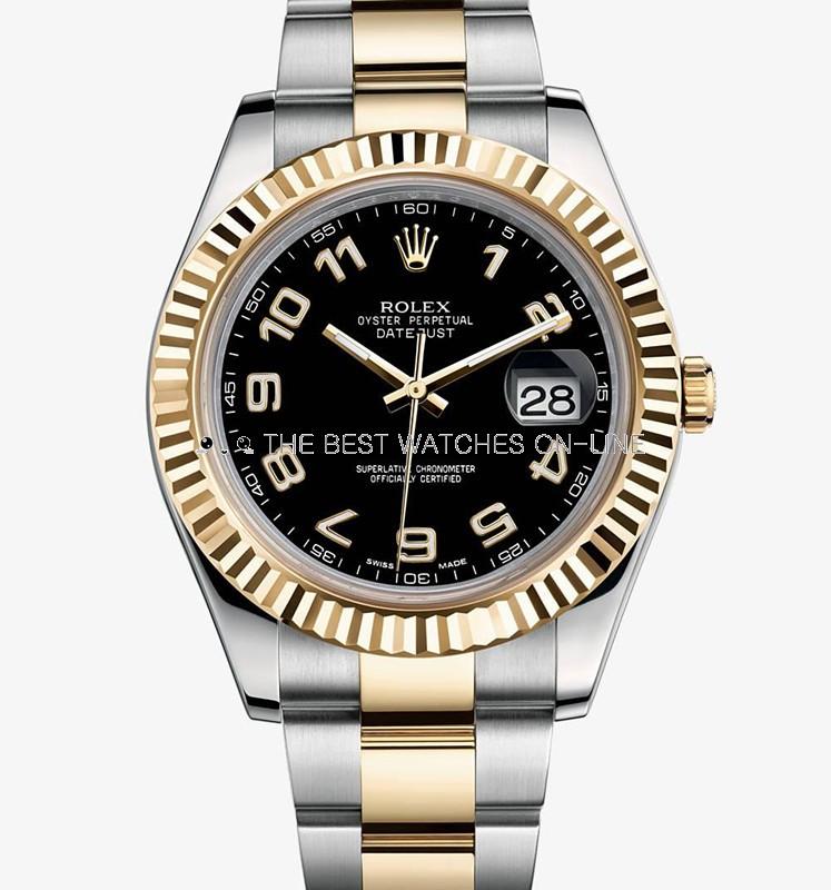 Swiss Rolex Datejust II Mens 116333 Black dial Arabic numerals Automatic Replica Watch