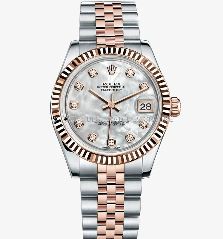 Swiss Rolex Datejust Ladies 178271 White MOP dial Diamond time markers Automatic Replica Watch (High End)