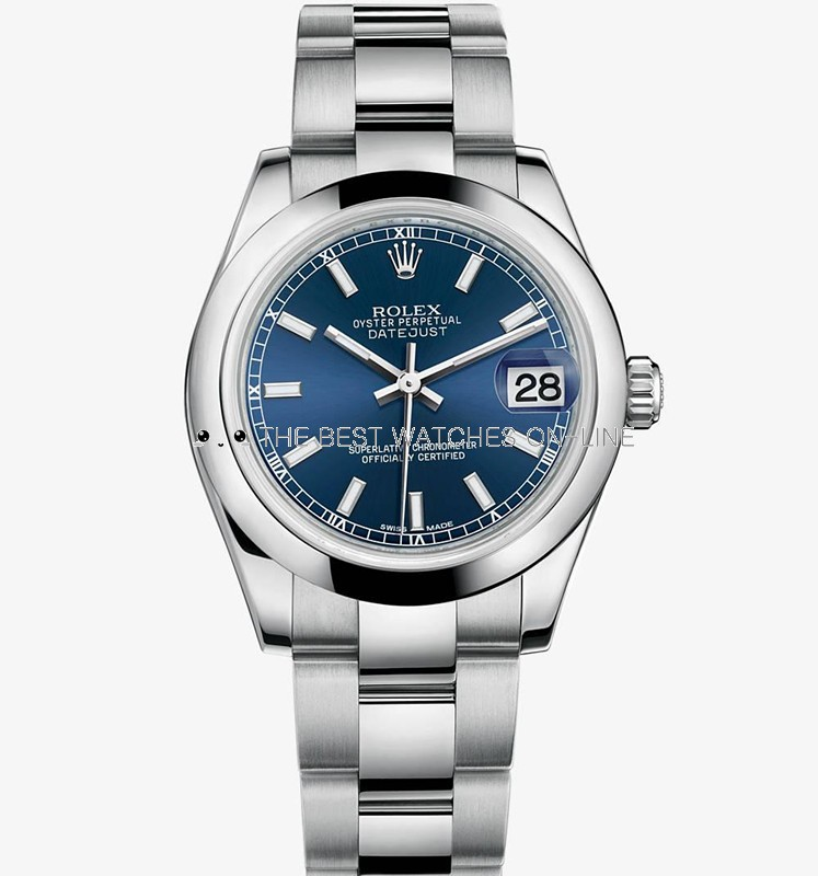 Swiss Rolex Datejust Ladies 178240 Blue dial Bar-type time markers Automatic Replica Watch