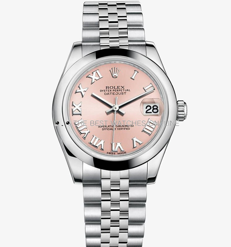 Rolex Datejust Ladies 178240 Pink dial Roman numerals time markers Automatic Replica Watch