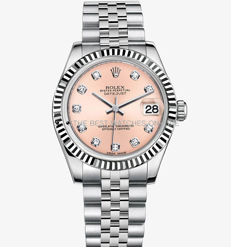 Rolex Datejust 31MM Ladies 178274 Pink dial Automatic Replica Watch