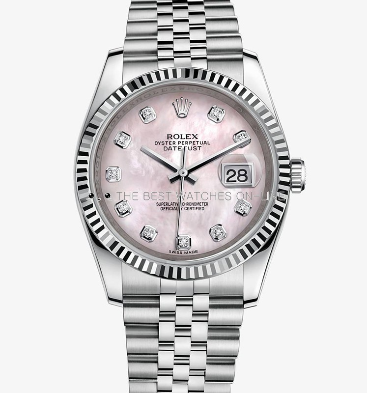 Swiss Rolex Datejust 116234-0104 Pink MOP dial Automatic Replica Watch 36MM