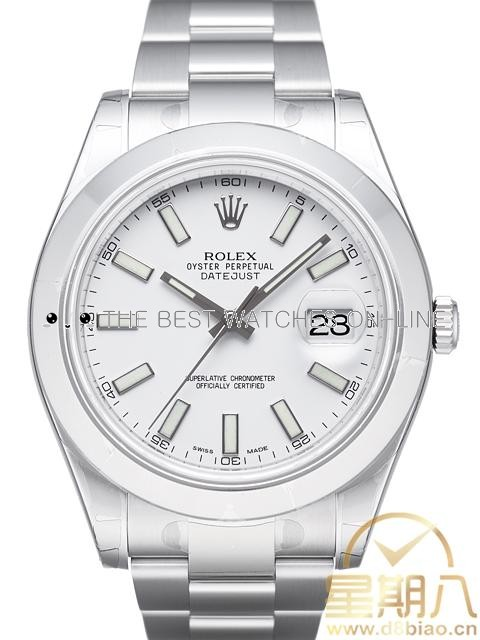 Rolex Datejust Mens 116300 White dial Bar-type time markers Automatic Replica Watch