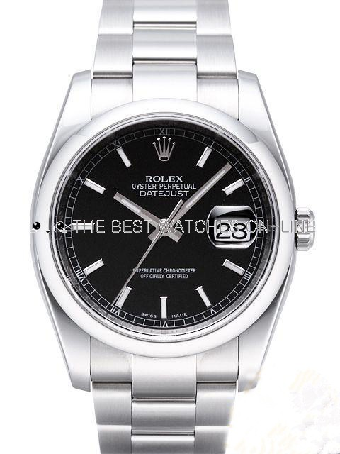 Replica Rolex Datejust Watches Swiss Automatic 116200-0059 Black Dial 36mm (High End)
