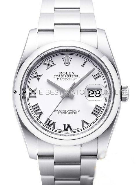 Rolex Datejust Mens 116200-0055 White dial Roman numerals Automatic Replica Watch
