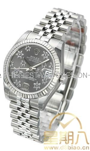 Rolex Datejust Ladies 178274 Grey dial Floral Mutif  Automatic Replica Watch