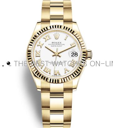 Replica Rolex Datejust Automatic Watch 278278-0019 White Dial 31mm