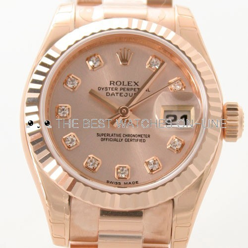 Swiss Rolex Datejust Ladies 179175G-83135 Gold dial Ladies Automatic Replica Watch
