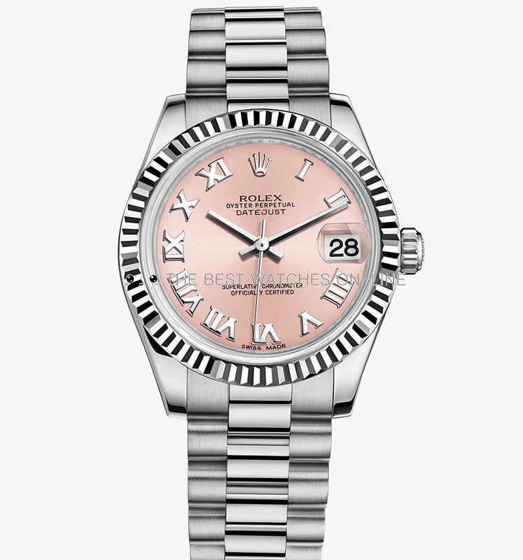 Rolex Datejust 31MM 178279 Pink dial Roman numerals Automatic Replica Watch