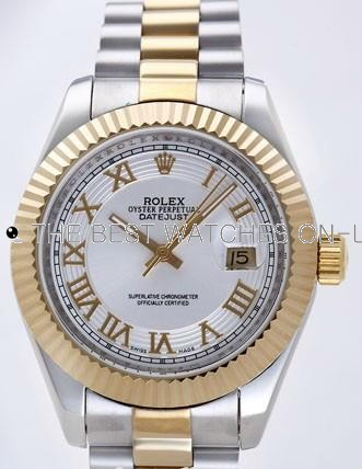 Rolex Datejust II Replica Watches Silver Dial RX4106