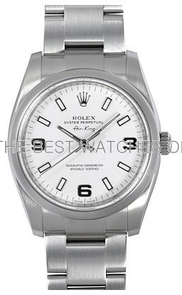 Rolex Air-King 114200-70190 White Dial Men Automatic Replica Watch