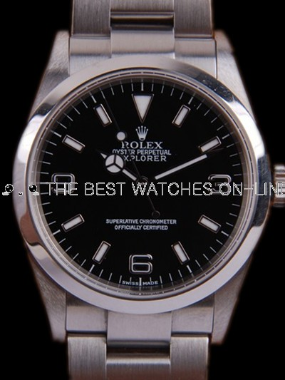 Swiss Rolex Explorer 114270-78690 Black dial Men Automatic Replica Watch