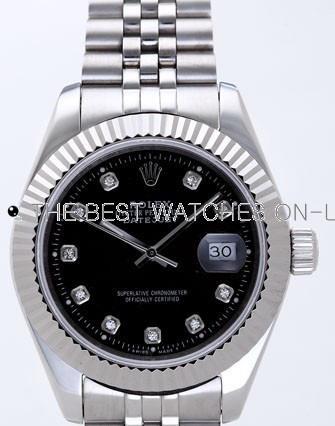 Rolex Datejust II Replica Watches Black Dial RX4110