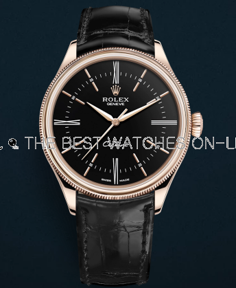 Rolex Cellini Swiss Replica Watch Rose Gold 50505-0009 Black Dial 39mm (High End)