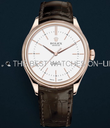Rolex Cellini Swiss Replica Watch Rose Gold 50505-0020 White Dial 39mm (High End)