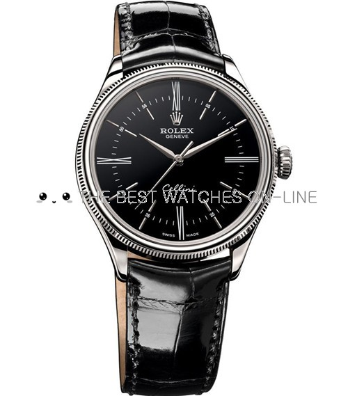 Rolex Cellini Swiss Replica Watch 50509-0006 Black Dial 40mm (High End)
