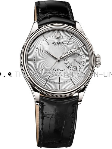 Rolex Cellini Swiss Replica Watch Date 50519-0006 Silver White Dial 39mm (High End)
