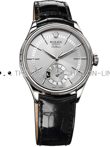 Rolex Cellini Swiss Replica Watch 50529-0006 White Dial 39mm (High End)