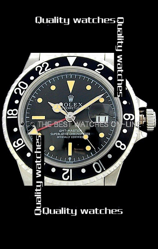 Swiss Rolex GMT-Master Yellow time markers Automatic Replica Watch