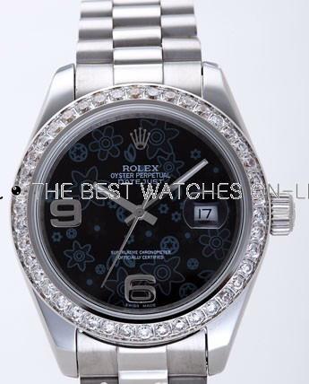 Rolex Datejust II Replica Watches Black Dial RX4125