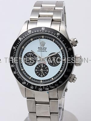 Rolex Daytona Replica Watches SS Shallow blue Dial Blue Inner Meter SS band