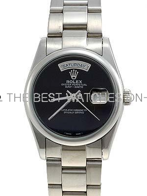 Rolex Oyster Day Date Replica Watches  Black onyx dial no hour markers RLLP00