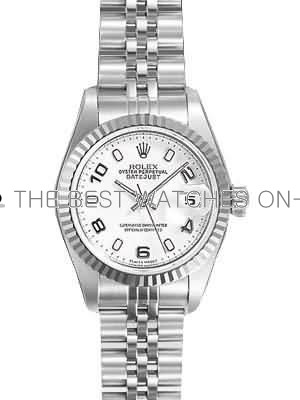 Rolex Datejust Replica Watches White Dial Arabic Hour markers 34mm
