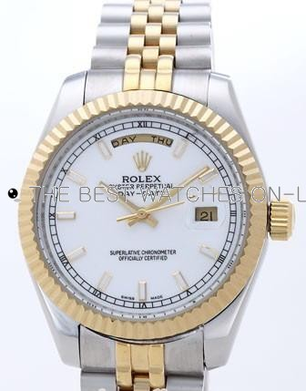 Rolex Day-Date II Replica Watches White Dial RX41120