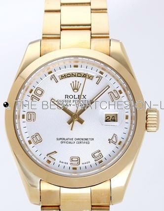 Rolex Day-Date II Replica Watches Silver Dial RX41115