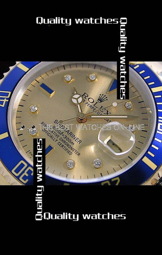 Swiss Rolex Submariner Golden dial Automatic Replica (High End)