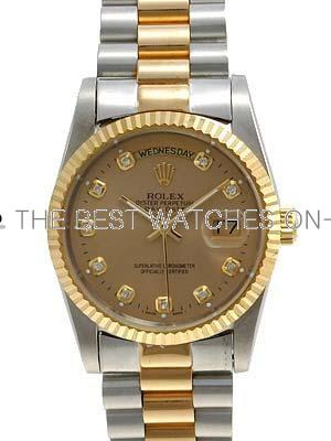Rolex Datejust II Replica WatchesAureate Dial RX4108