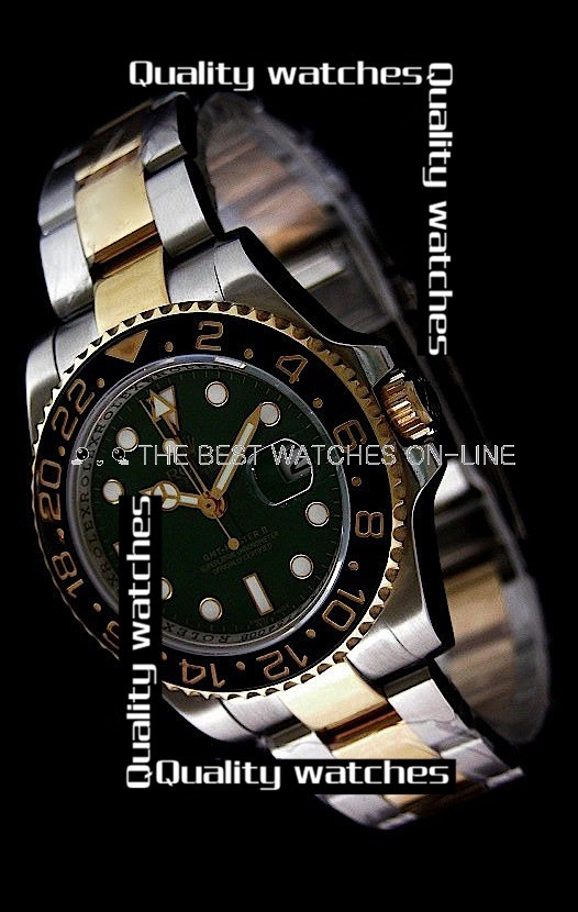 Swiss Rolex GMT-Master II Green dial Ceramic bezel Automatic Replica Watch