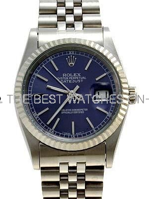 Rolex Datejust  Replica Watches Jubilee Dark blue dial bar markers II