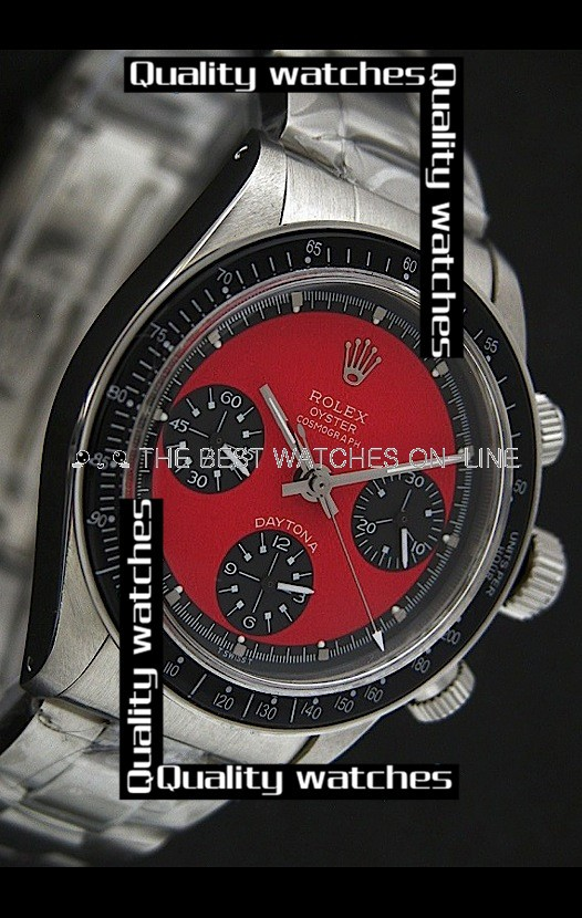 Swiss Rolex Oyster Cosmograph Daytona Black Sub-Dials Dot time markers Automatic Replica Watch