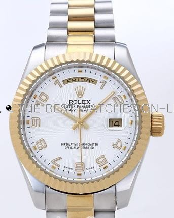 Rolex Day-Date II Replica Watches White Dial RX41126