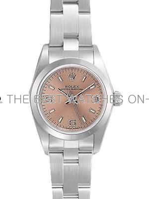 Rolex Oyster Perpetual Replica Watches SS Stainless Steel Bronze Dial Arabic Bar Hour markers