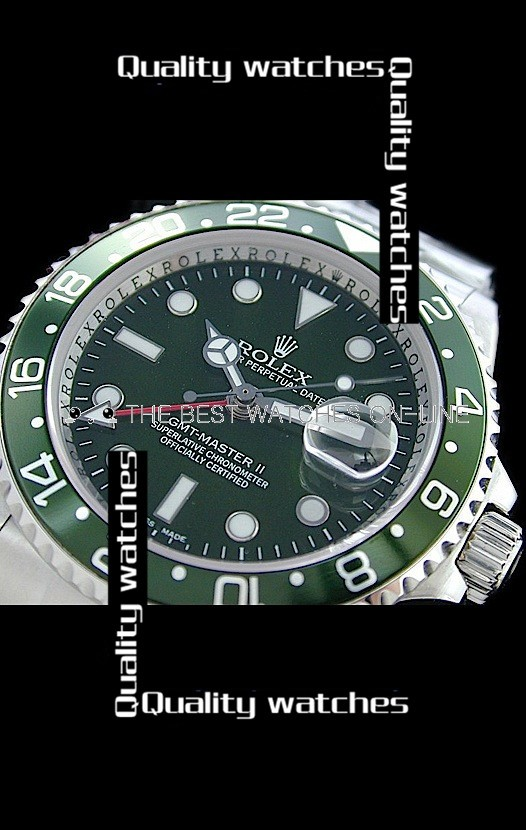 Rolex GMT-Master II Green dial and bezel Strap Automatic Replica Watch