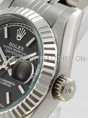 Rolex Datejust II Replica Watches Black Dial RX4111