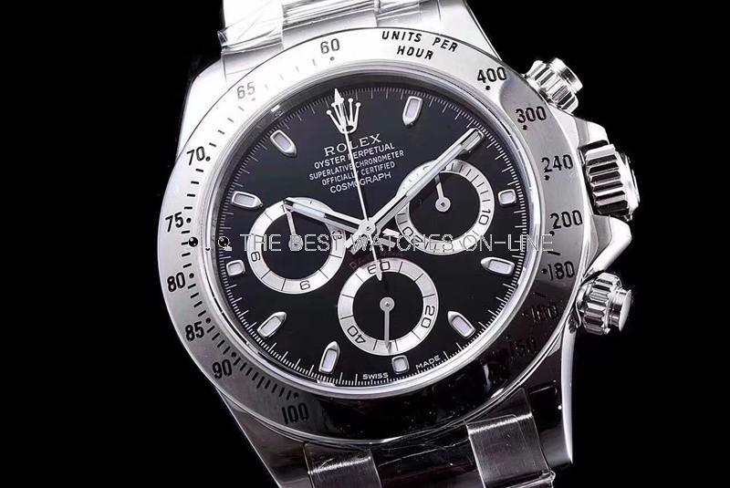 Rolex Daytona Swiss Cal.4130 Replica Watch Black Dial 40mm (Super Model)