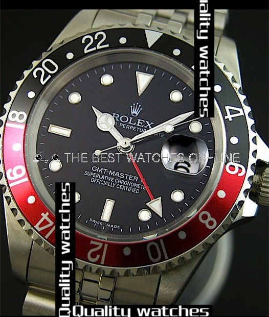 Replica Rolex GMT-Master II Automatic Watch Black & Red Bezel 40mm