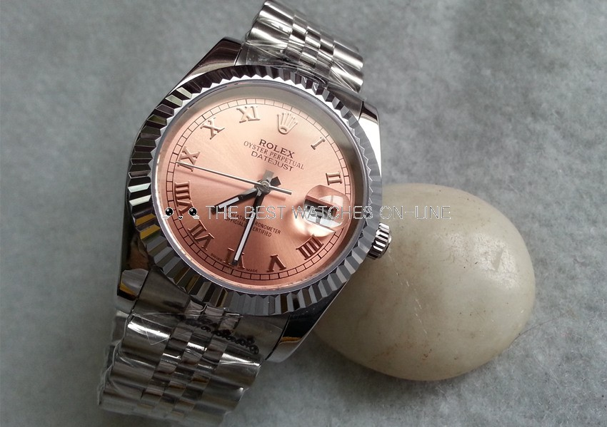 Rolex Datejust Replica Watches Jubilee SS Bronze Dial Roman Numeral Hour markers I