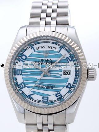 Rolex Day-Date II Replica Watches Blue Dial RX41137