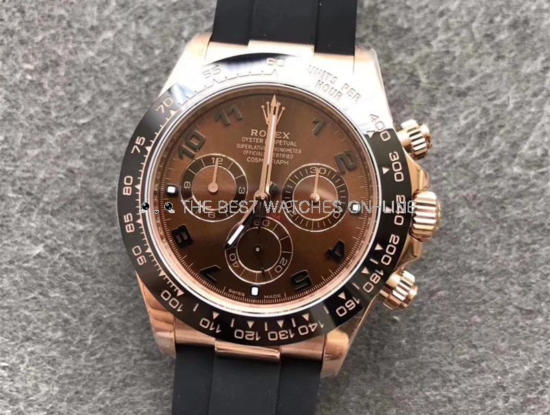 Replica Rolex Daytona Swiss Watches 116515LN-0015 Chocolate Dial 40mm (High End)