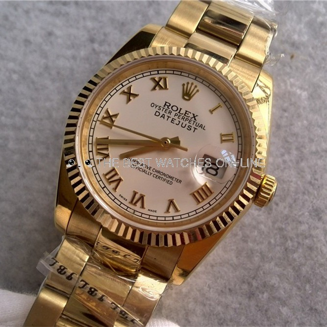 Rolex Datejust Automatic Watch Yellow Gold