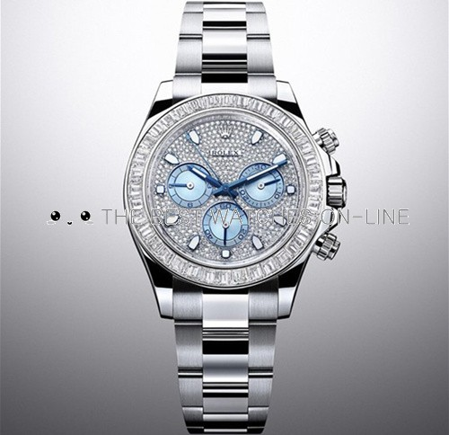 Swiss Rolex Cosmograph Daytona 116576TBR Platina Full Diamonds dial Men Automatic Replica Watch (High End)