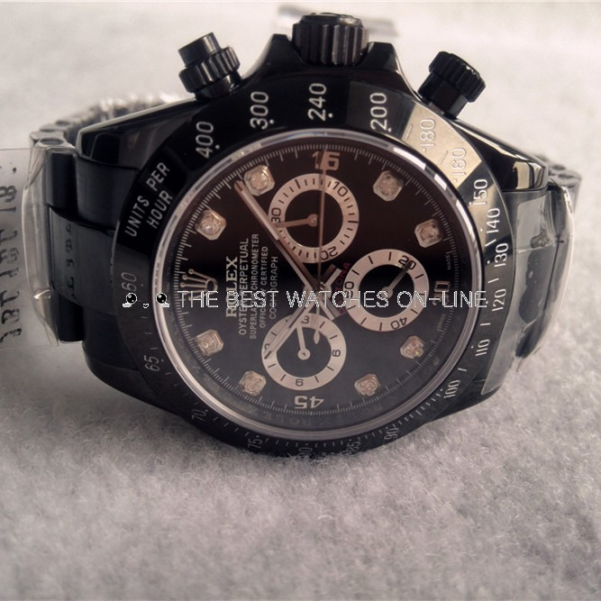 Replica Rolex Daytona Watches Swiss Automatic Full Black 40mm (High End)