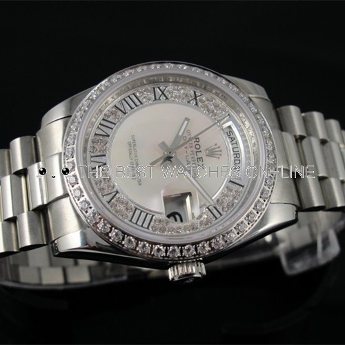 Replica Rolex Day-Date Automatic Watch Diamond Dial 36mm